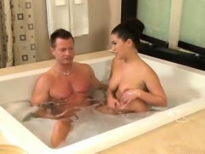 Asian masseuse titfucks client