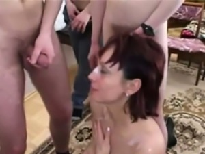 German whore takes 5 younger men
