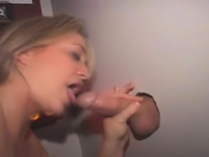Blonde Amateur Girl Slurps Pole Through A Glory Hole