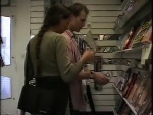 amandla in video store swedish retro
