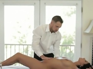 Delightsome doggy position pounding