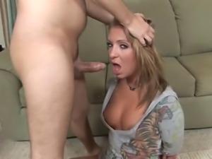 Stupid slut gets her throat fucked DTD