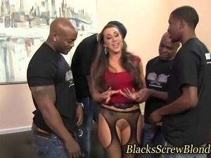Kaylynn fucks black group