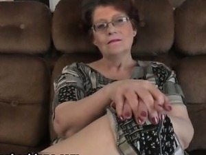 Two sexy lesbian girls seducing this old