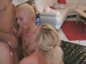 Blonde german Lilly with girls and guys Part3