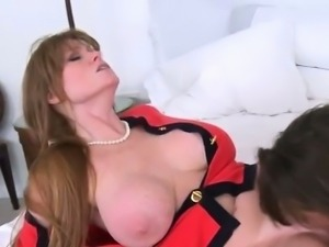 He lets her step mom take a ride reverse style