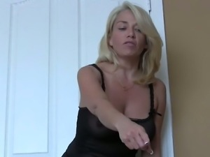 Swallow your own cum for your kinky neighbor