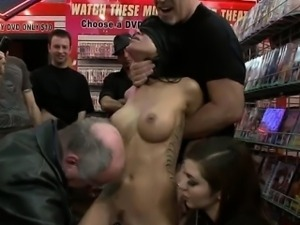 Breasty waitress punished