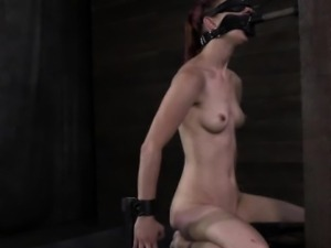 BDSM sub gagged during nipple punishment