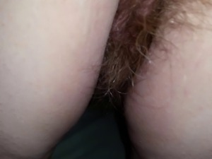 wifes dark hairy ass hole, hairy pussy on all4s