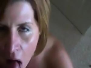 Wife Sucks My Cock And Gets A Facial