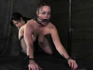 Anally and mouth hooked skank being punished