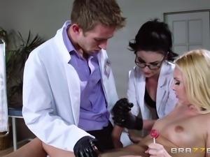 doctors examine sexy blonde tart
