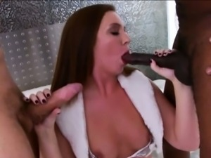 Nice booty hottie Maddy O Reilly intense double penetration