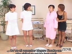 Subtitled Japanese lesbian group vibrator massage play