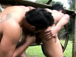 Outdoor bareback latino fucking ass