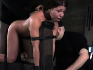 Bonded submissive gets punished roughly