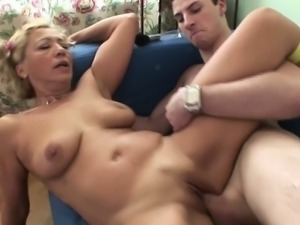 Horny Mother fuck with her step-son after school