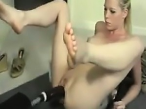 Bitch Fucked In The Ass By A Machine