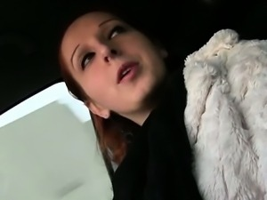 Amateur girl pussy fucked and gets payed by pervert driver