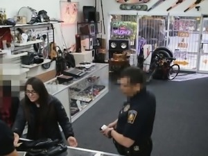Pawn shop hardcore fuck action for stealing an item