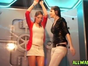 Hot Amateur Girls Shower Dancing Party