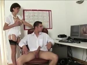 Lady Sonia gets tits cummed on