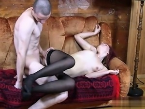 Cute pussy double blowjob