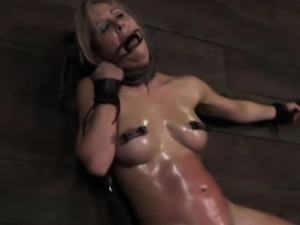 Electrosex session with submissive skank