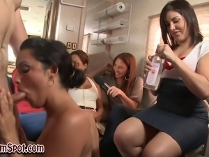 Real clothed babe sucks dick