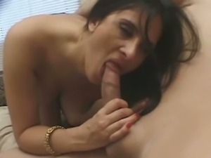 Hot Indian brunette gives a blowjob