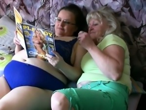 BBW fat woman with old Granny