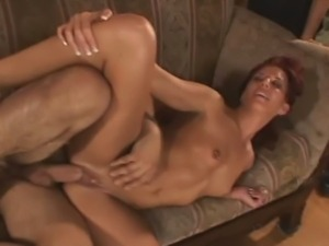 Tempting redhead milf tries swinging first time