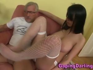 Hot ass fetish babe sucks and foot fucks