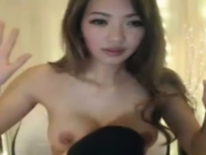 Perfect body asian chick is drinkin shots