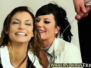 Classy piss soaked sluts