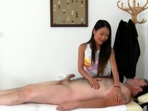Massage Porn With Asian Pussykat Excites Male Customer