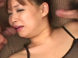 Voluptuous Monami Sakura amazing gangbang sex
