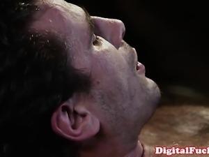 Blonde porn babe Kayden Kross facialized