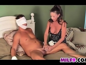 Beautiful Mother Helps Out Her Step Son