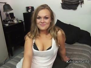 Curvy girlfriend sucking and fucking on sex tape