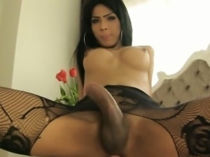 Big dick shemale Jame blowjob and horny ass fucking