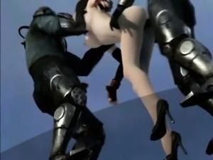 Chesty 3D hentai slut gets DP