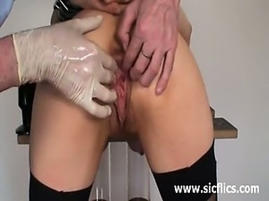 Extreme slave double fisted in greedy pussy