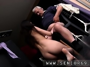 Horny senior Bruce spots a lovely female sitting behind a se