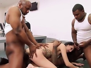 Skinny tattooed white woman Hailey Young is a horny MILF who loves it black....