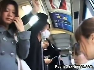 Real publicsex asian flashing her ass