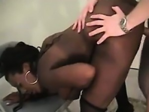 Black Bitch With Big Tits With White Cock