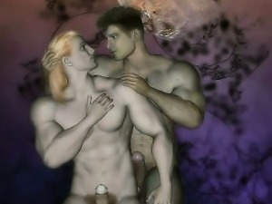 3D Muscle Gays with Huge Dicks!