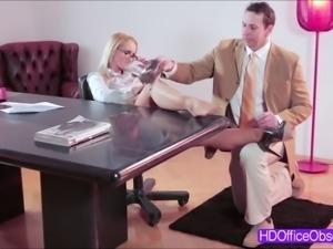 Hot MILF Kathia Nobili gets fucked hard in the office b